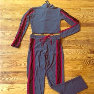NWT 2 Piece Dark Gray Track Suit